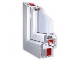 Plastikiniai langai – KBE 88 mm 6 kamerų plastikinių langų profilis