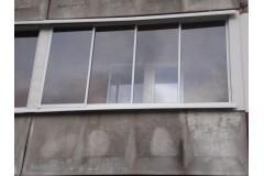 Balkonų stiklinimas - aliuminiai rėmai-stumdoma sistema