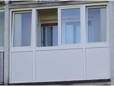 Balkonų stiklinimas - plastikiniai rėmai-varstoma sistema